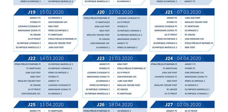 Calendrier National Foot 2020 2019.Calendrier De National 2 Moulins Yzeure Foot